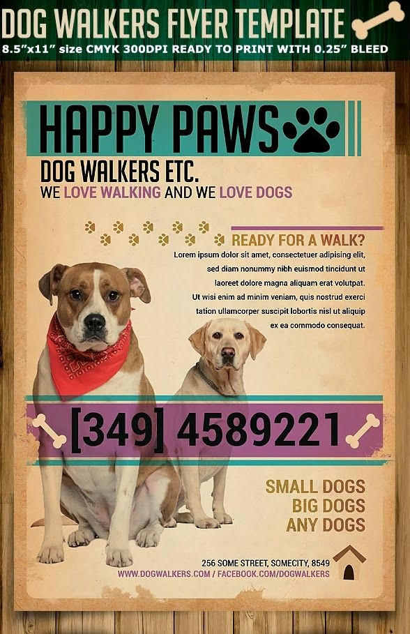 Dog Walking Flyer Template Lovely On the Image to Visit Page Mind My Business