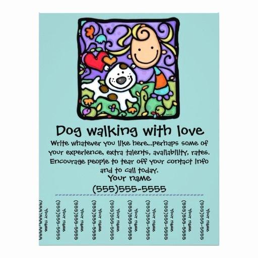 Dog Walking Flyer Template Luxury Littlegirlie Dog Walk Sitting Tear Sheet Flyer Exceptional Business Cards Pinterest