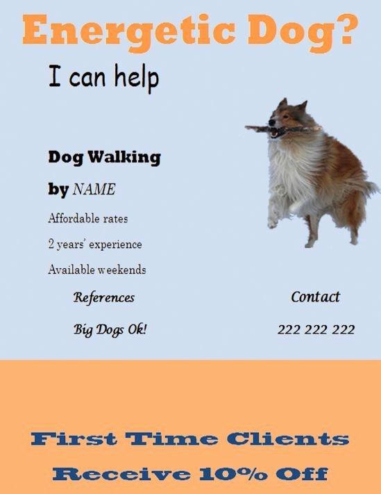 Dog Walking Flyer Template New 25 Best Dog Walking Flyer Certificate Images On Pinterest