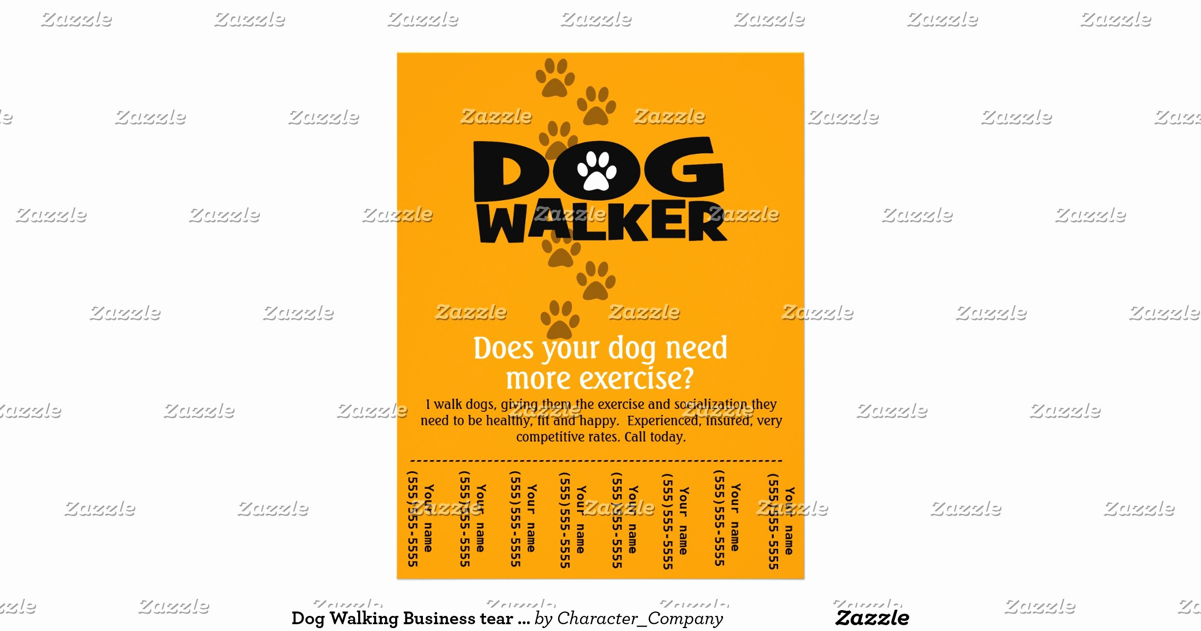 Dog Walking Flyer Template New Dog Walking Business Tear Sheet Flyer Template Rddb2fce081c149e3bd1cff9c438a0ac4 Vgvyf 8byvr
