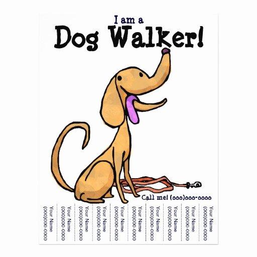 Dog Walking Flyer Template Unique I Am A Dog Walker Flyer