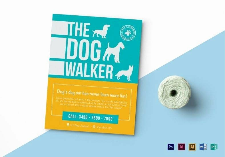 Dog Walking Flyer Templates Free Beautiful 12 Flyer Templates In Publisher