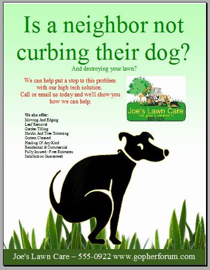Dog Walking Flyer Templates Free Beautiful Backyard Scaping Design Your Landscape Marketing Ads