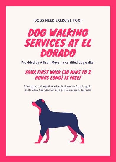 Dog Walking Flyer Templates Free Beautiful Customize 66 Dog Walker Flyer Templates Online Canva