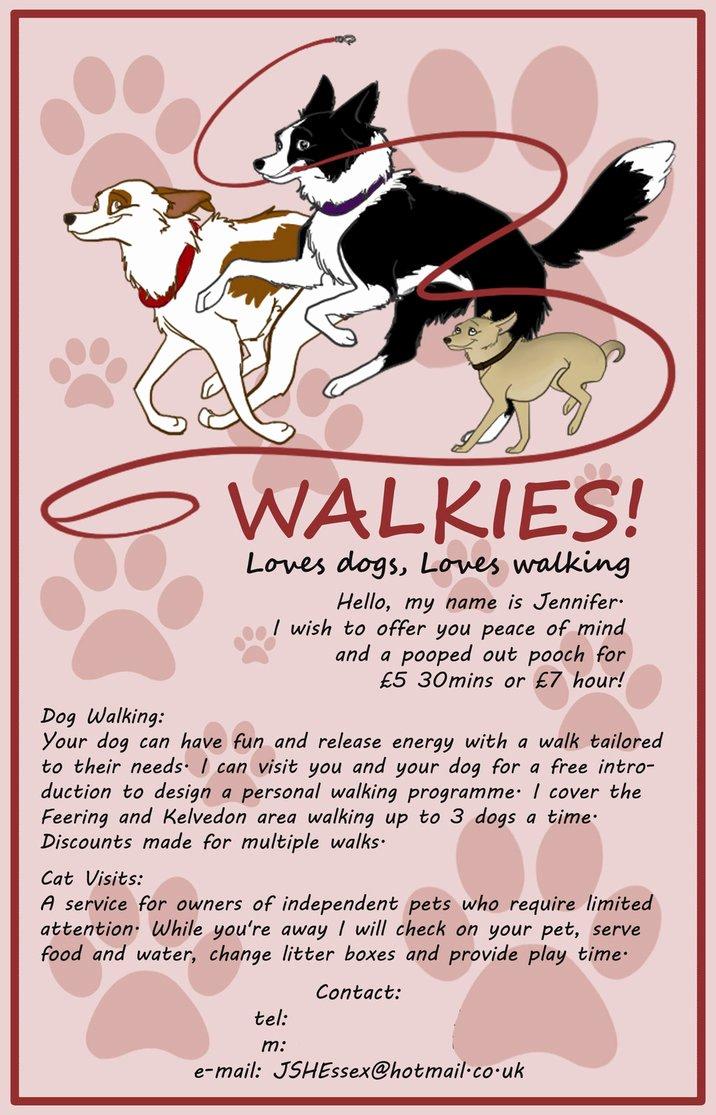 Dog Walking Flyer Templates Free Beautiful Dog Walking Flyer by Kitten Bomb On Deviantart