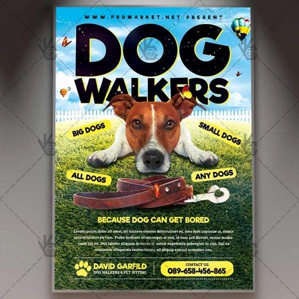 Dog Walking Flyer Templates Free Elegant Dog Walkers Premium Flyer Psd Template