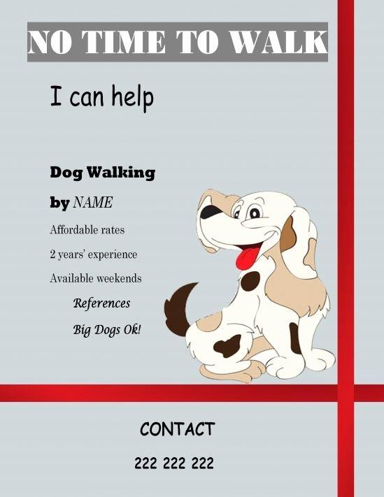 Dog Walking Flyer Templates Free Inspirational Free Templates Dog Walking Dog Walking Flyer Certificate