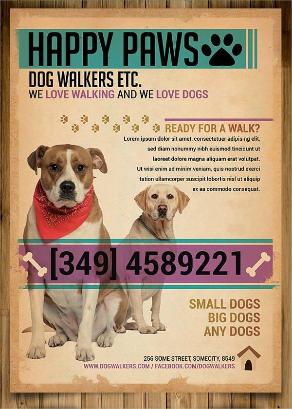 Dog Walking Flyer Templates Free Luxury 15 Dog Walking Flyer Templates Psd Vector Eps Ai format Download