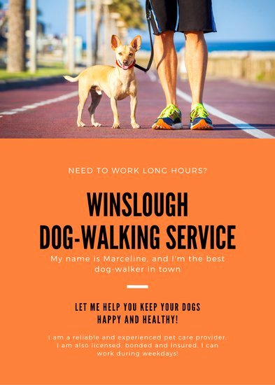 Dog Walking Flyer Templates Free Luxury Customize 66 Dog Walker Flyer Templates Online Canva