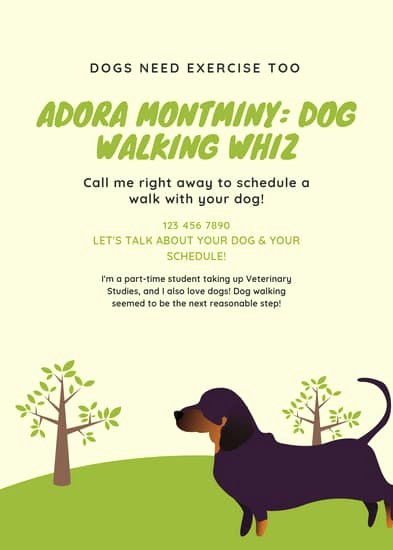 Dog Walking Flyer Templates Free New Customize 66 Dog Walker Flyer Templates Online Canva