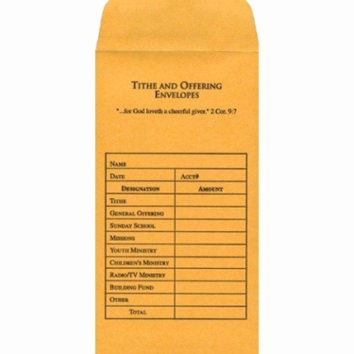 Donation Envelope Template Word Lovely Tithe & Fering Envelope