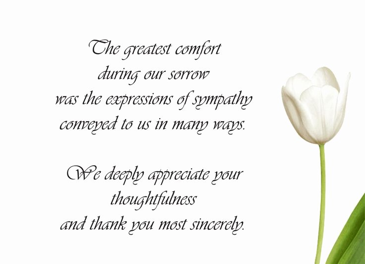 Donation for Funeral Wording Sample Inspirational Sample Funeral Thank You Cards … Teacher