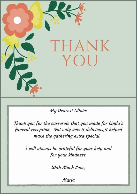 Donation for Funeral Wording Sample New 33 Best Funeral Thank You Cards