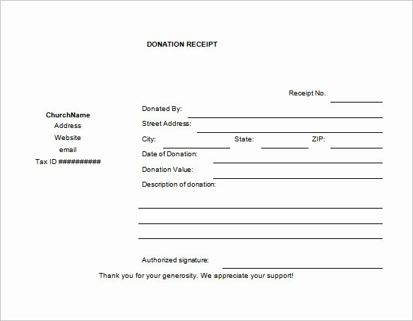 Donation form Template Word Awesome 19 Donation Receipt Templates Doc Pdf