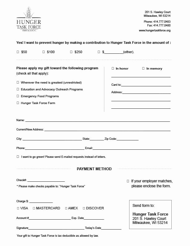 Donation form Template Word Beautiful 6 Charitable Donation form Templates Free Sample Templates
