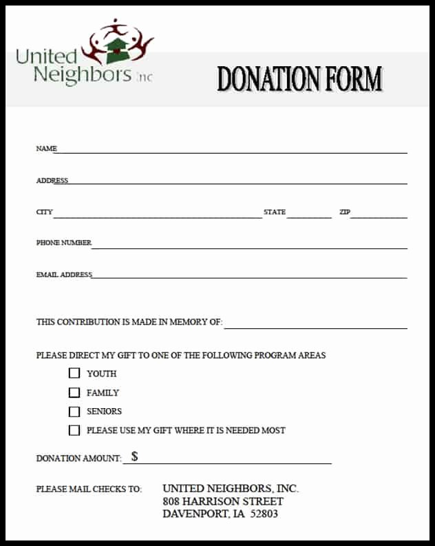 Donation form Template Word New 36 Free Donation form Templates In Word Excel Pdf