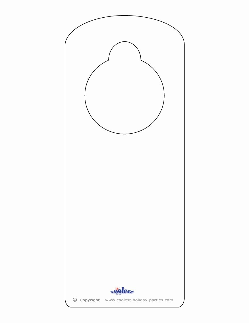Door Hanger Template for Word New Blank Printable Doorknob Hanger Template Templates