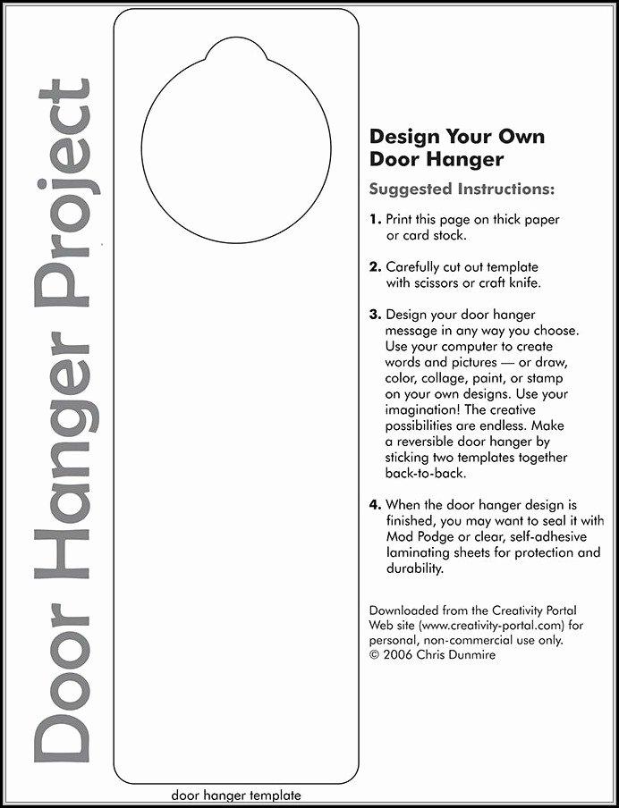 Door Hanger Template Microsoft Word Fresh Door Hanger Template for Word Template 1 Resume Examples Vj1yld48yl