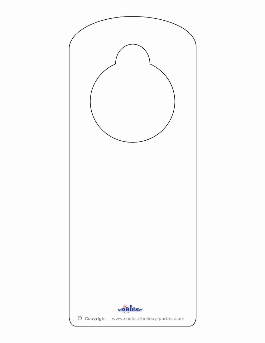 Door Hanger Template Microsoft Word Inspirational Blank Printable Doorknob Hanger Template Templates