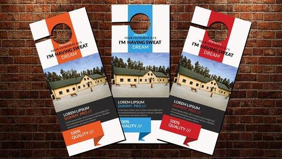 Door Hanger Template Psd Awesome 10 Best Ideas About Door Hanger Template On Pinterest
