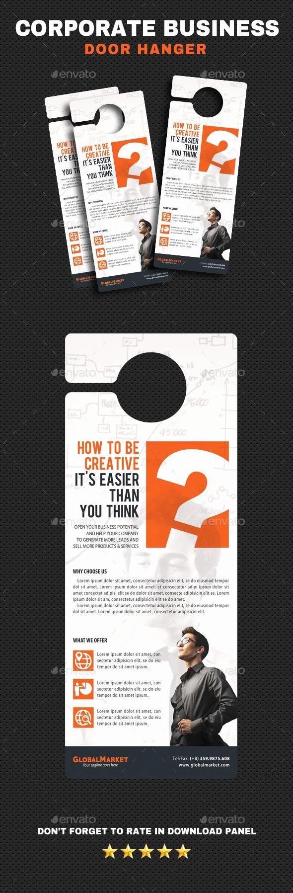 Door Hanger Template Psd Awesome Best 25 Door Hanger Template Ideas On Pinterest