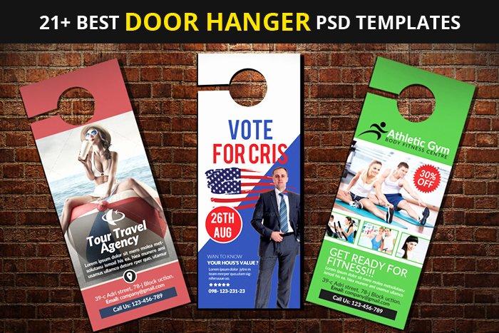 door hanger psd templates
