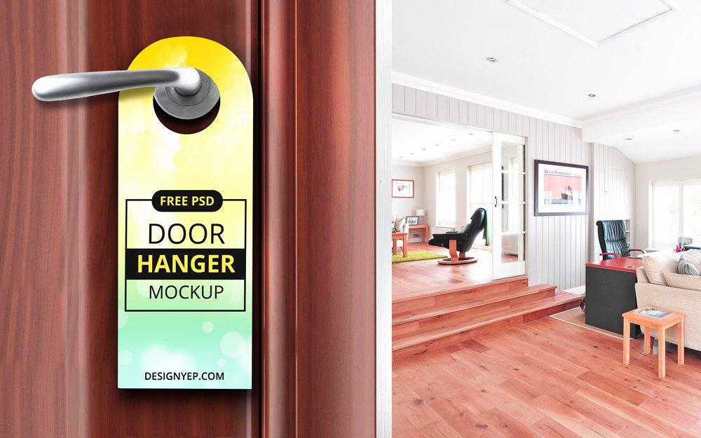 Door Hanger Template Psd Best Of Free Door Hanger Mockup Psd Designyep
