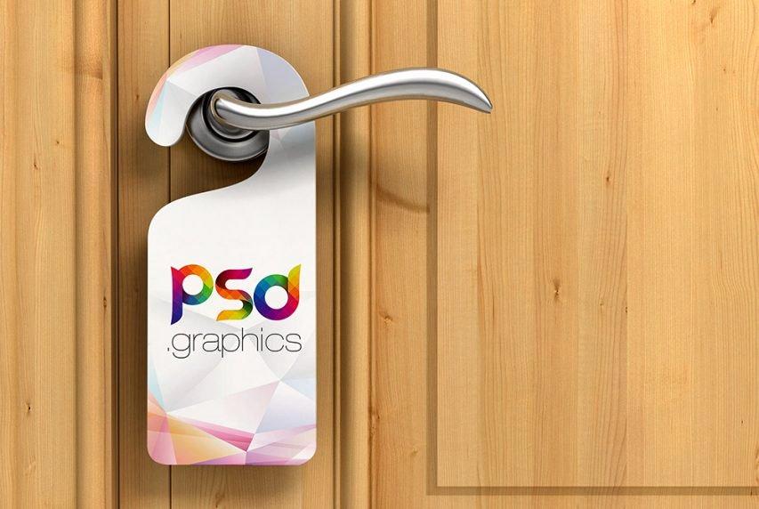 Door Hanger Template Psd Lovely Door Hanger Mockup Free Psd