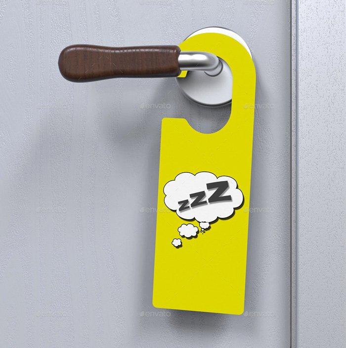 Door Hanger Template Psd Luxury 14 Free and Premium Door Hanger Mockup Templates Designyep