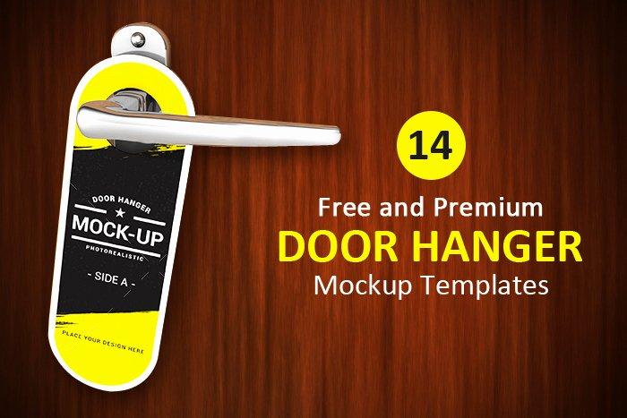 Door Hanger Template Psd New 14 Free and Premium Door Hanger Mockup Templates Designyep