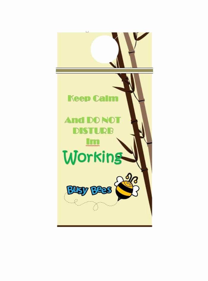 Door Hanger Template Publisher Beautiful 43 Free Door Hanger Templates Word Pdf Template Lab