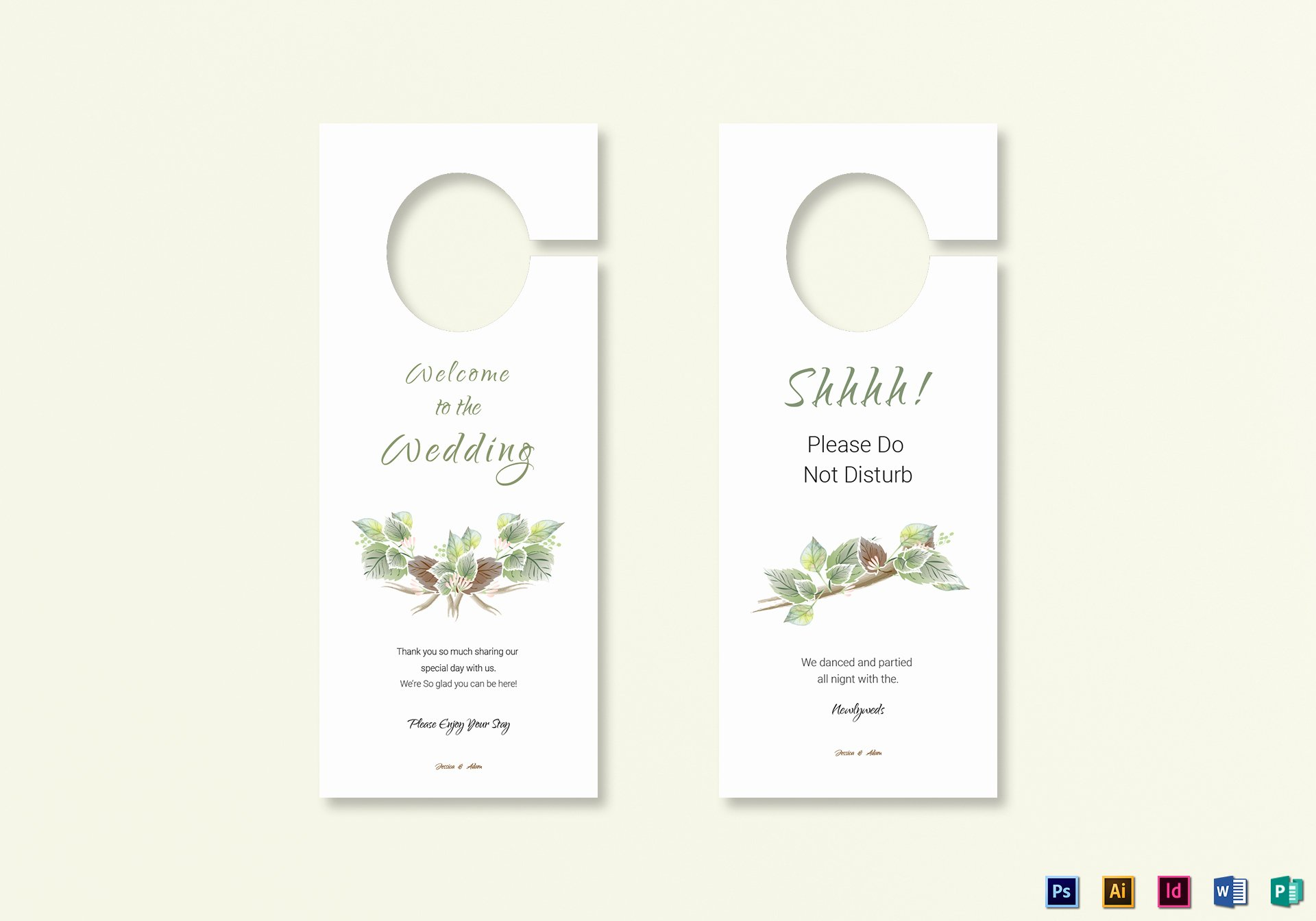 Door Hanger Template Publisher Inspirational Fall Wedding Door Hanger Template In Psd Word Publisher Illustrator Indesign