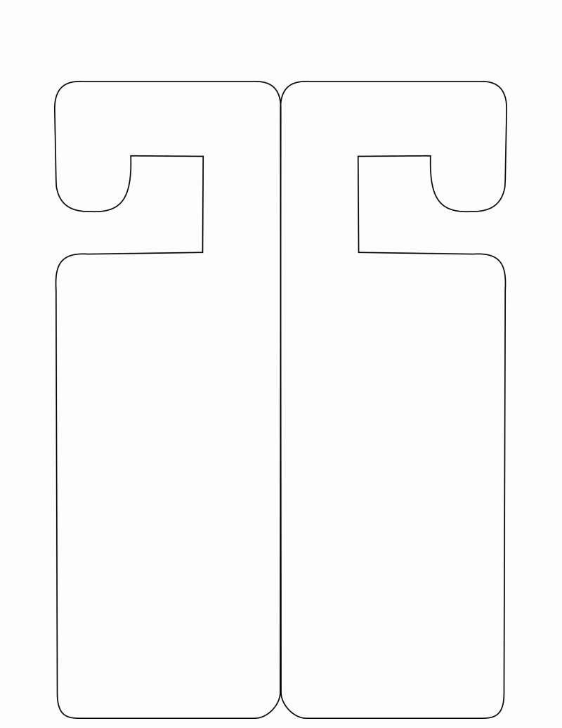 Door Hanger Template Publisher New Door Hanger Template
