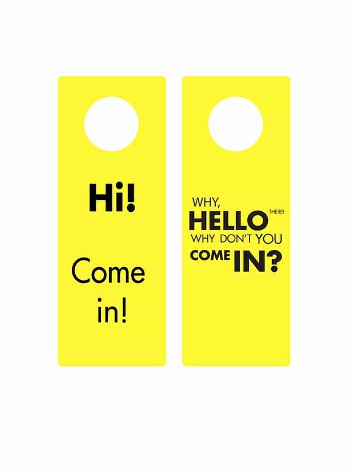 Door Hanger Template Word Inspirational 43 Free Door Hanger Templates Word Pdf Template Lab