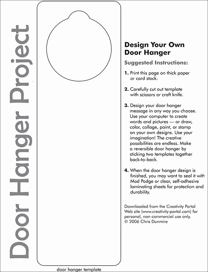 Door Hanger Templates for Word Elegant Door Hanger Template