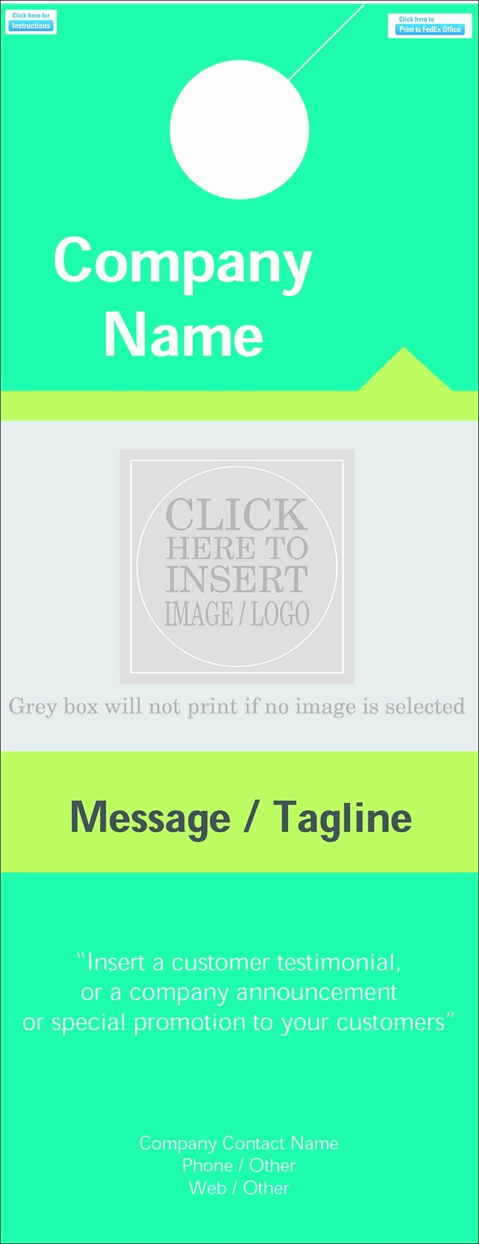 Door Hanger Templates for Word Inspirational Door Hanger Template