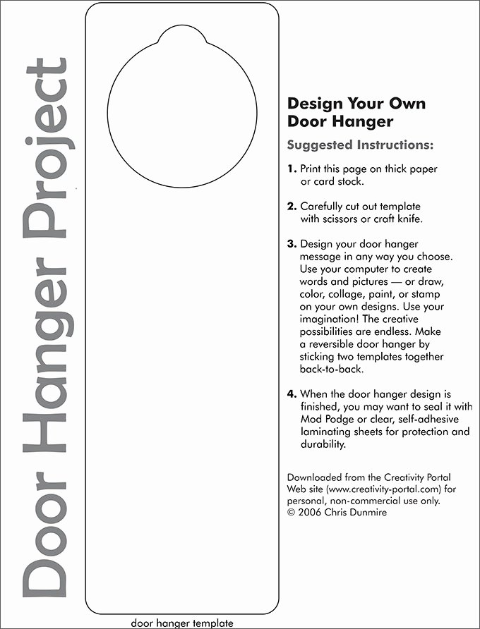 Door Hanger Templates for Word Luxury Door Hanger Template