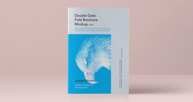 Double Gate Fold Brochure Template Beautiful Psd Double Gate Fold Brochure Vol4 Psd Mock Up Templates