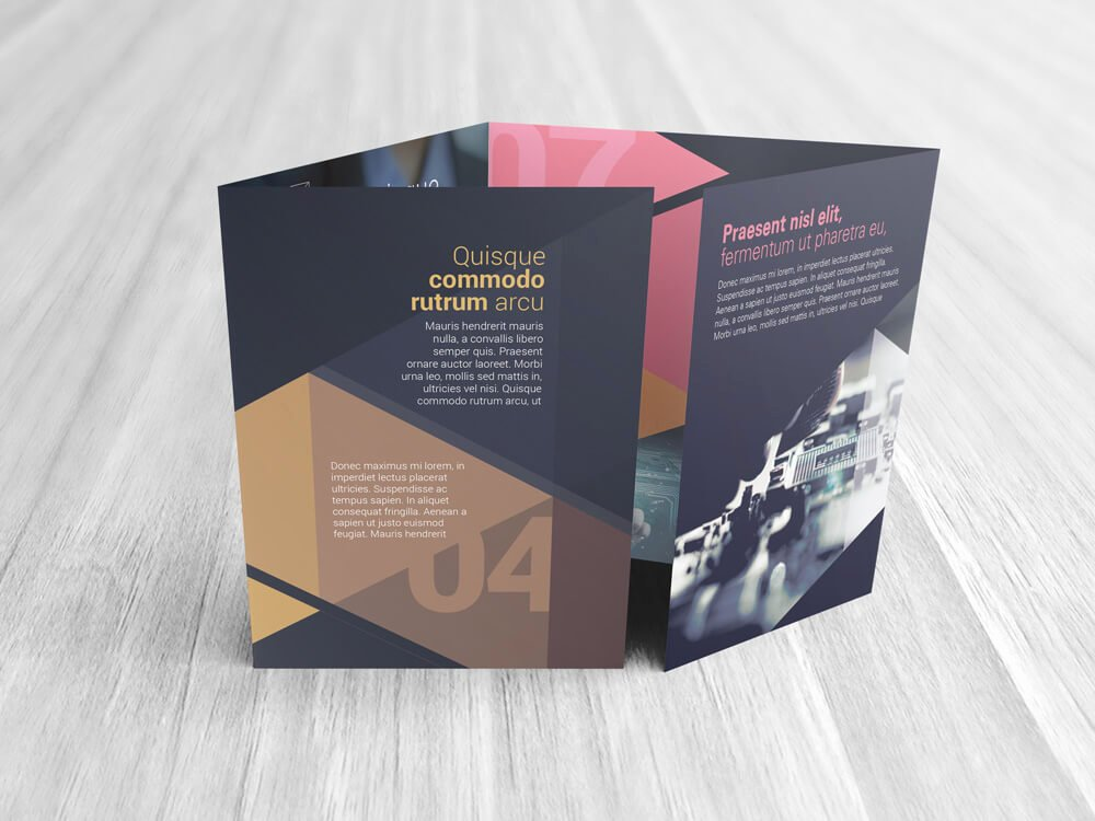 Double Gate Fold Brochure Template Fresh Double Gate Fold Brochure Mockups
