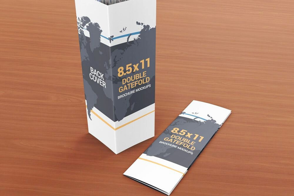 Double Gate Fold Brochure Template Luxury 8 5 X 11 Double Gate Fold Brochure Mockups
