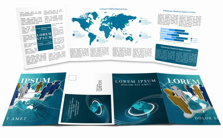 Double Gate Fold Brochure Template New Double Gate Fold Brochure Mockup Cover Actions Premium
