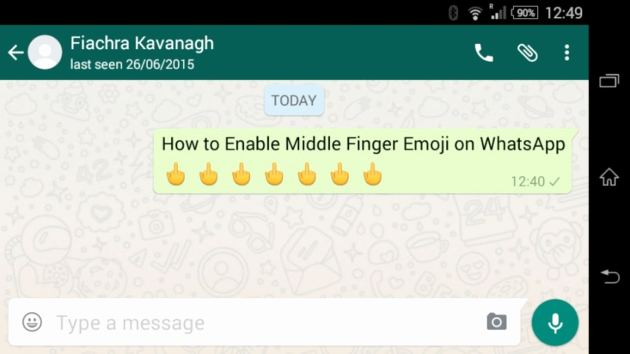 Download Middle Finger Emoji Beautiful How to Enable Middle Finger Emoji On Whatsapp