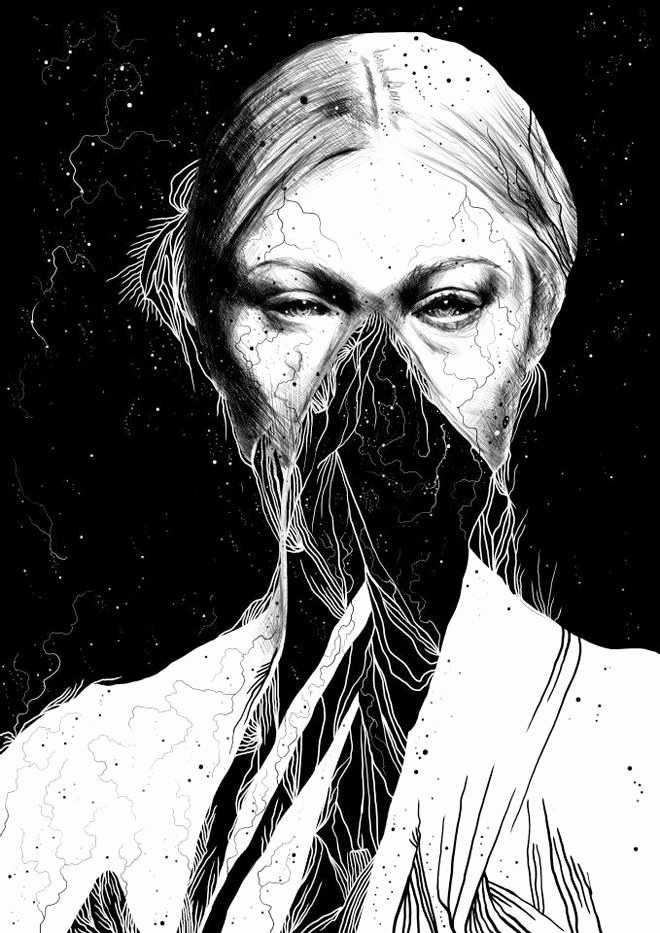 Draw Black and White New Dark Detailed Black and White Drawings by anders Røkkum Art