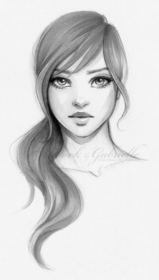Drawing Of Beautiful Girls Elegant Image Result for Easy Portrait Drawing In 2019