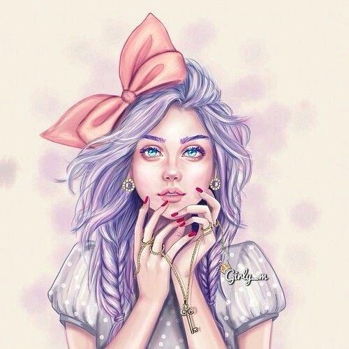 Drawing Of Beautiful Girls Unique Art Beautiful Drawing Girl Pink Dibujos Pinterest
