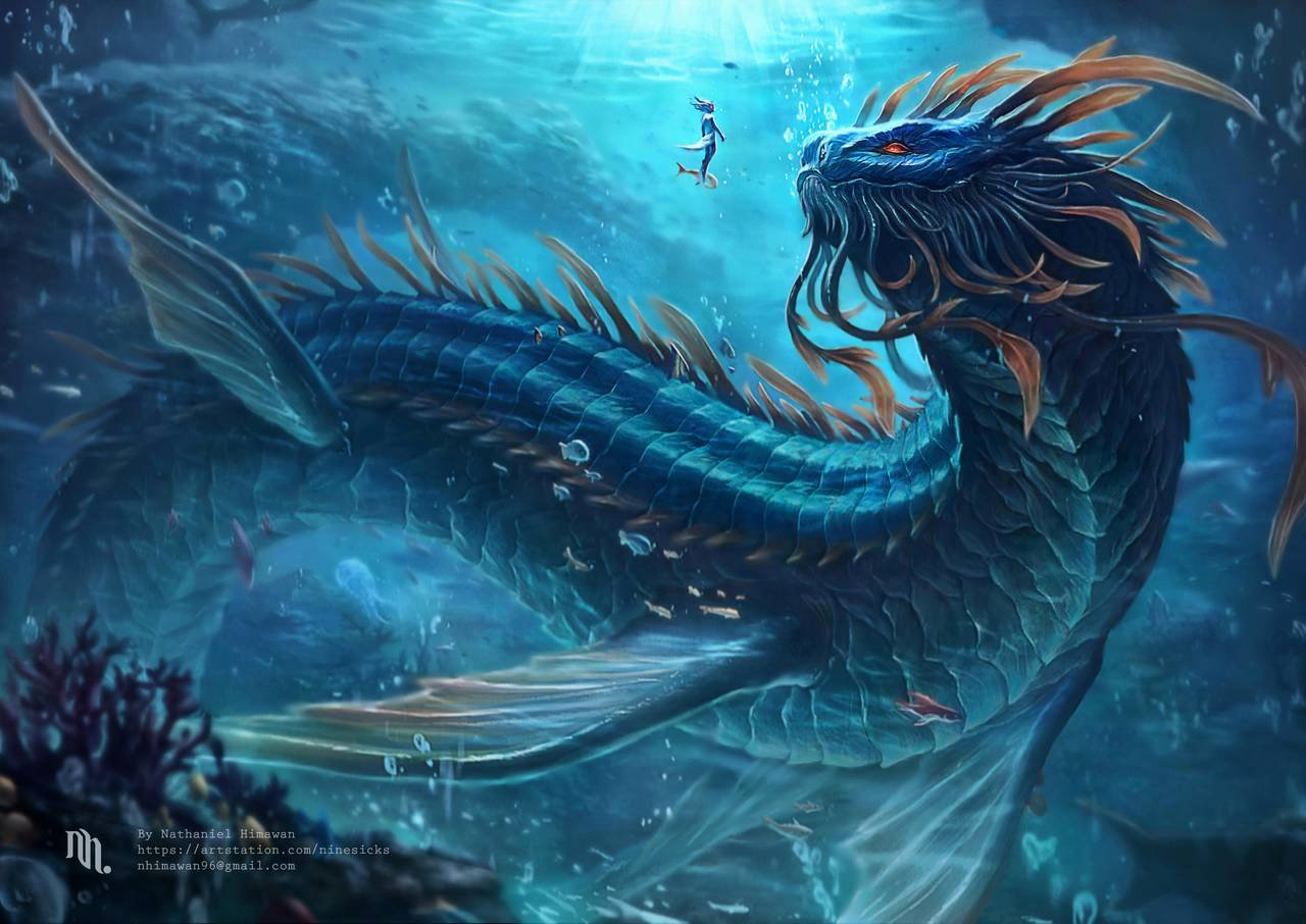 Drawings Of Sea Creatures Elegant Arga the Wisdom Of the Deep by Nachan96 On Deviantart