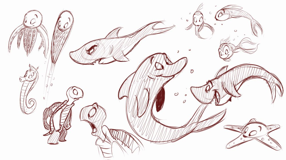 Drawings Of Sea Creatures Inspirational How to Draw Cartoon Animals