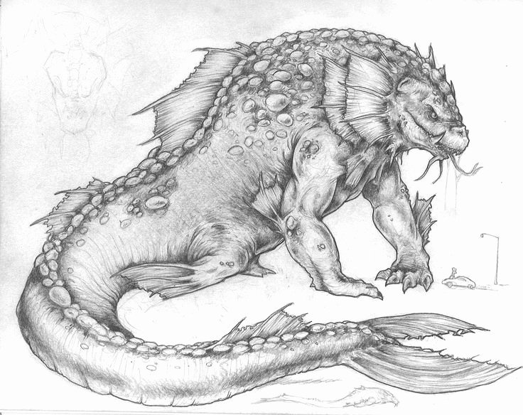 Drawings Of Sea Creatures New 130 Best Images About Sea Monsters On Pinterest