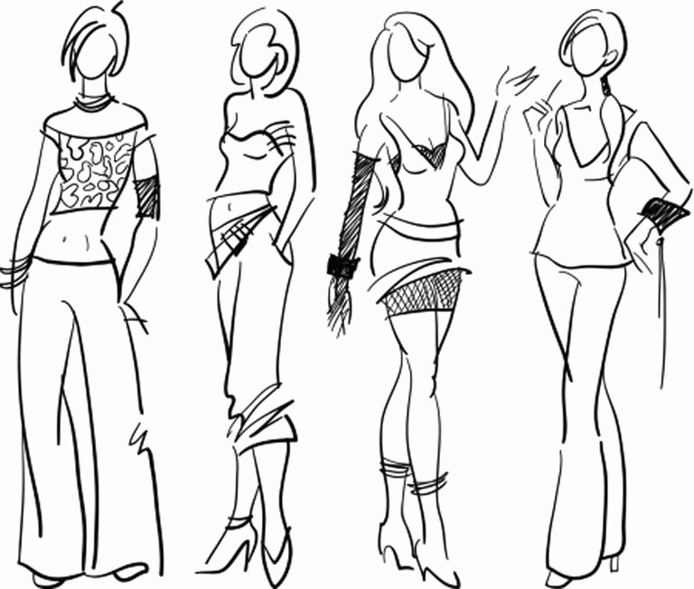 Dress Sketches for Fashion Designing Awesome Teenage Fashion Designer