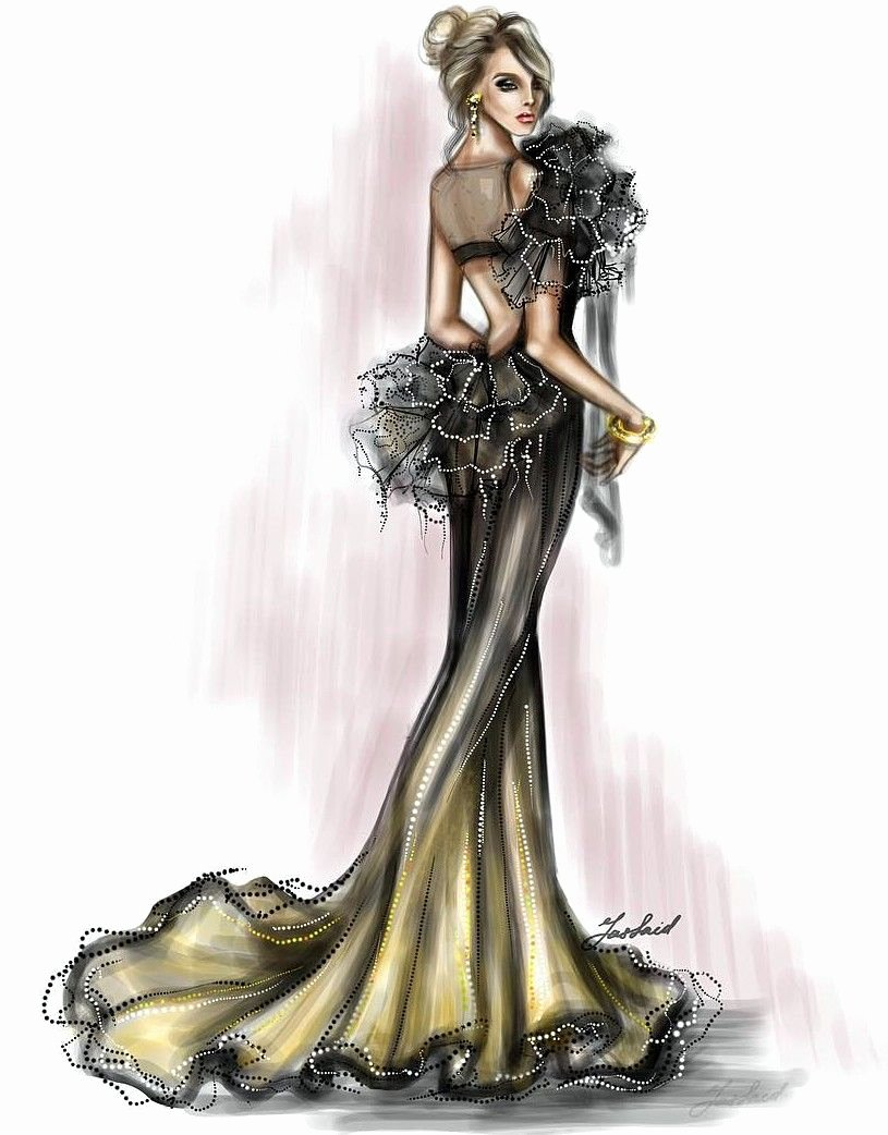 Dress Sketches for Fashion Designing Beautiful Pinterest Murderbeewrote Cizimler In 2019